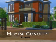 Modern house featuring open concept kitchen, dining area,and livingroom.  Found in TSR Category 'Sims 4 Residential Lots'
