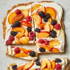 Almond Cookie Tart with Peaches & Berries - EatingWell.com