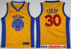 415cefdf0 Nike Golden State Warriors  30 Stephen Curry Gold NBA Swingman City Edition  Jersey