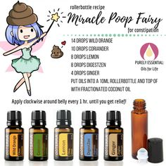 Purely Essential: Oils for Life Constipated? This essential oil rollerbottle blend is a lifesaver! Essential Oils For Constipation, Oil For Constipation, Essential Oils For Kids, Essential Oils Guide, Essential Oil Uses, Elixir Floral, Essential Oil Diffuser Blends, Aromatherapy Oils, Aromatherapy Recipes
