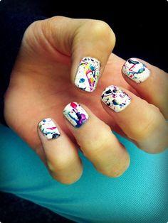 Splatter Nail Art