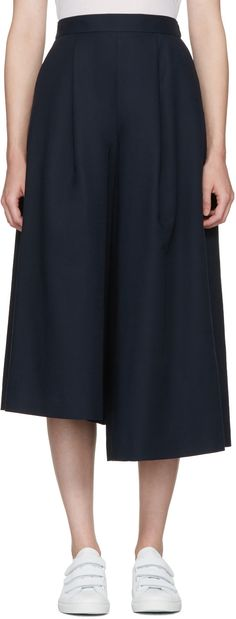 $495 - Enfold - Navy Skirted Trousers