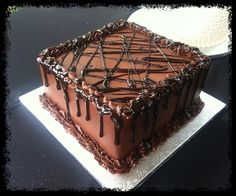 Chocolate Ganache Groom's Cake — Groom's Cakes