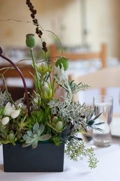 Love the organic feel of this centerpiece