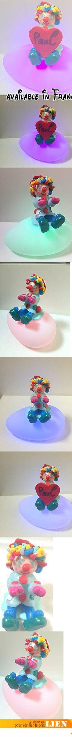 Veilleuse/ fimo/clown/multicolore/ figurine/veilleuse bébé/personnalisable/chambre enfant/cadeau anniversaire/idée cadeau de Noël/fait main/variation de couleurs.  #Guild Product #GUILD_HOME