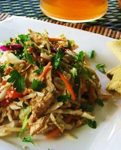 Low FODMAP Recipe and Gluten Free Recipe - Oriental chicken salad