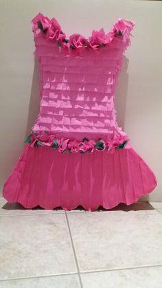 Pink dress pinata Πινιάτα ροζ φόρεμα