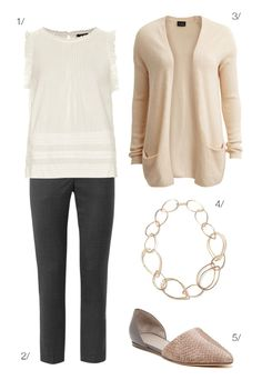 back to school style: blush, cream, and grey // click for outfit details