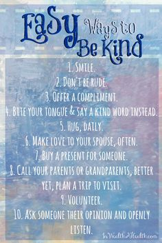 Be Inspired to Make the Most out of your Life - #5 Be Kind @HappyHealthyRD