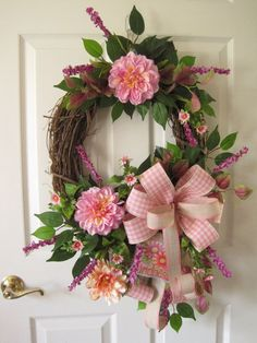 Spring Garden Wreath Mother's Day Wreath Easter by FunFlorals