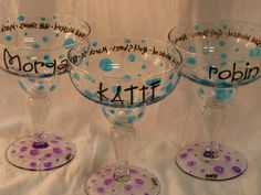 Decorate plastic margarita cups for guests to take home