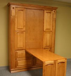 Murphy bed with fold down desk