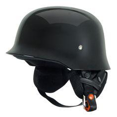 Rebel Warr Helmet German Style DOT Solids