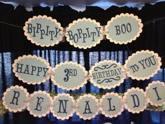 Cinderella Birthday Banner by PicklesnPinwheels on Etsy