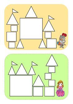 roi, reine, chateau, recherche mot, graphisme, jeu, formes, carré, triangle