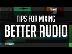 Tips for Mixing Better Audio - SFX, Compression, EQ and More! - YouTube Audio Engineer, Sound Engineer, Audio Music, Recorder Music, Audio Post Production, Ableton Live, Good Tutorials, Sound Design, Music Theory