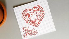 Wedding card engagement card love card heart card wedding