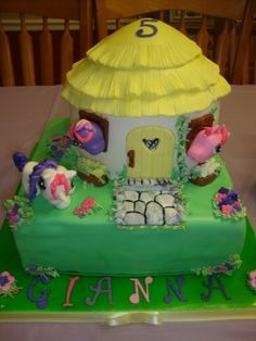 my little pony cottage cake