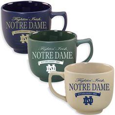 5b7c622633a Matte Round Mug $14 I love coffee mugs! Notre Dame College Football, Notre  Dame
