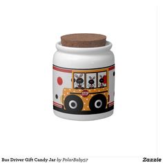 Bus Driver Gift Candy Jar