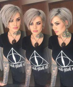 grey hair short shaggy bob http://postorder.tumblr.com/post/157432644549/options-for-short-black-hairstyles-2016-short