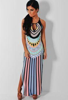 Women Summer Boho Halterneck Long Maxi Evening Party Dress Beach Dress Elegant-in Dresses from Women's Clothing