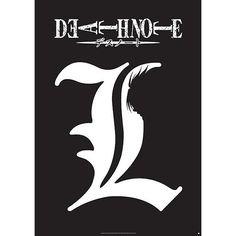 Death Note  Poster  »L - Symbol« | Jetzt bei EMP kaufen | Mehr Fan-Merch  Poster  online verfügbar ✓ Unschlagbar günstig!