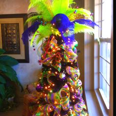 mardi gras tree idea!