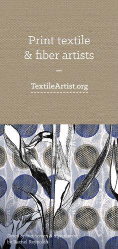 Print & fiber textile artists