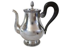 Christofle Malmaison Silver-Plate Teapot from France