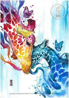 "Diy Round/Square drill diamond painting cross stitch mosaics Full cover embroidery ""Giraffes An Cross Paintings, Animal Paintings, Animal Drawings, Art Drawings, Original Paintings, Pencil Drawings, Watercolor Animals, Watercolor Paintings, Pintura Graffiti"