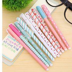 MERSUII 10 Pcs Multi Colors Colorful Gel Ink Pen Cute Korean Cartoon Pin Type…