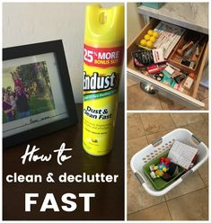How to clean and declutter Fast #ad #Endust @Endust