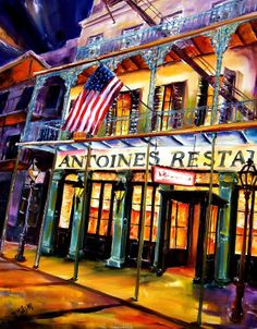 Antoines Restaurant in the French Quarter on St. Louis.  My son lived across from this wonderful place!