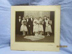 Vintage Wedding Party Photo in Cardboard Frame Kay C. Lenskold Floral Park, N.J. | Collectibles, Photographic Images, Contemporary (1940-Now) | eBay!
