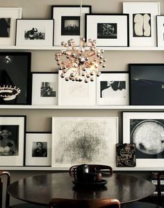 black and white art wall
