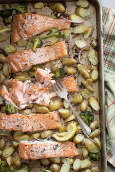 Easy Oven Baked Salmon ~ An easy, gorgeous meal with healthy superstar ingredients! ~ from  Foodness Gracious