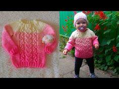 """Вяжем детский джемпер """"Зефирный"""" МК - YouTube Baby Knitting, Crochet Baby, Knitting Patterns, Crochet Patterns, Knit Baby Dress, Knitting Videos, Watch V, Crochet Designs, Kids And Parenting"""