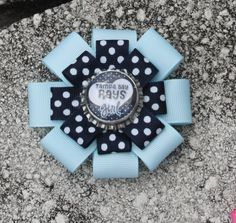 Tampa Bay Rays Hair Bow Rays Rock Hair Bow Hair Bow by bowsforme, $7.00