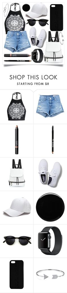 """Beginning Summer"" by iredud16 ❤ liked on Polyvore featuring rag & bone/JEAN, NARS Cosmetics, Lord & Taylor, COSTUME NATIONAL, Keds, Deborah Lippmann, Maison Takuya and Bling Jewelry"