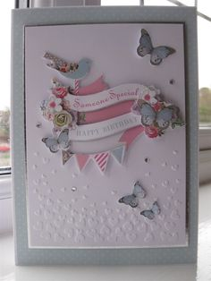 'Someone Special' handmade Birthday card made using the Papermania Bellissima papercraft collection.