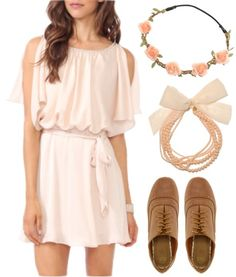 "Fashion Inspiration: American Girl Doll Kirsten. ""Blush Pink Birthday"" > Dress – Forever21, Shoes – ASOS, Necklace – Forever21, Headband – Rokit"