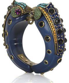 LANVIN | Crystal double bird bangle ($934)