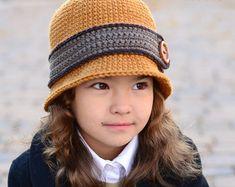 CROCHET PATTERN  Downtown Boy  crochet bowler hat pattern