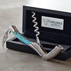 Laguiole En Aubrac Waiters Corkscrew, Turquoise #williamssonoma