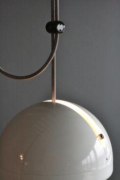 Very Rare Joe Colombo SPRING Adjustable Ceiling Light image 2