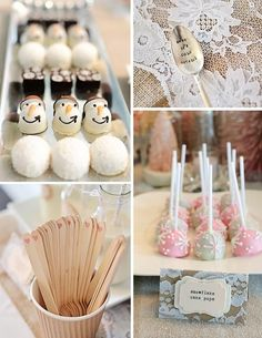 Winter Wonderland Party Food | Rustic Shabby Winter Wonderland Girl 1st Birthday Party Planning Ideas