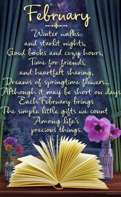 Poem of the Month - February 2020 Seasons Months, Seasons Of The Year, Months In A Year, 12 Months, New Month Quotes, Monthly Quotes, Leap Year Quotes, Tuesday Quotes, February Month