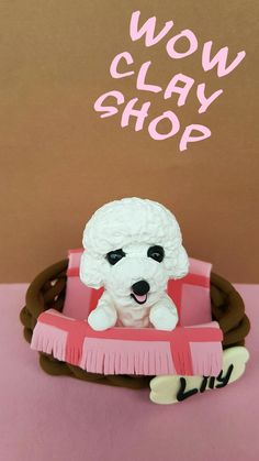 """Are you looking for a topper that features your favourite animal? This eye-catching and original Bichon cake topper will give your cake a quirky wow factor with this cute. So really there' s no excuse not to have it, right? Beautiful decoration on your dog birthday cake or figurine for collectors...it is a perfect keepsake gift. Material: High quality and special non-toxic polymer clay. They last a lifetime. Dimensions: 2,3"""" x 2,7"""" (6 x 7 cm) Dog Cake Topper, Cake Toppers, Dog Birthday, Birthday Cake, Puppy Dog Cakes, Polymer Clay Cake, Choosing A Dog, Pink Blanket, Beautiful Decoration"""