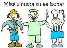 Tulosta puuhalehtiset ja opi lisää eri ammateista! Opi, Projects To Try, Goodies, Language, Presentation, Teaching, Activities, Comics, School